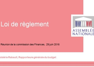 20160630 AN PARIS loi de reglement 2015